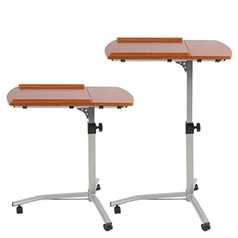 Adjustable Rolling Laptop Desk Best Choice Products Angle Height Adjustable Rolling Laptop Desk Cart New Ebay