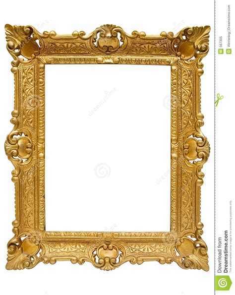 Inexpensive Home Plans by Plastic Golden Picture Frame W Path Royalty Free Stock
