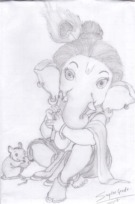 Ganesh Ji Sketches by Pencil Drawings Of Ganesha Driverlayer Search Engine