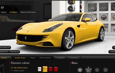 Ferrari Configurator by Ferrari Ff Supercar Gets Its Own Online Configurator