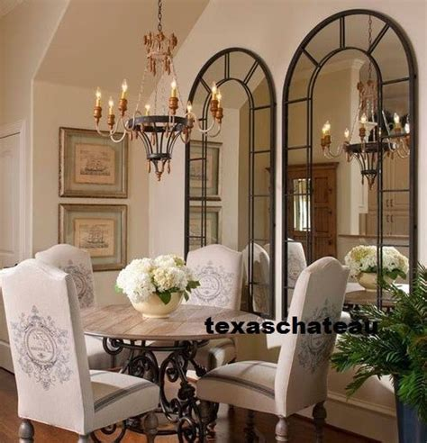xl  large black arched windowpane wall mirror