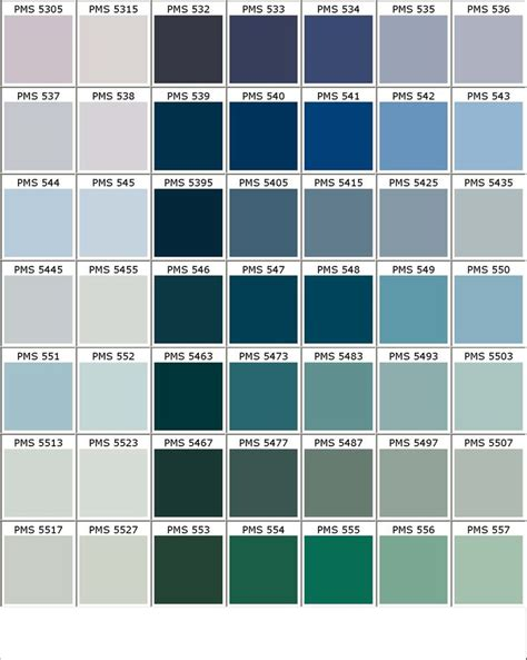 shades of blue chart color chart colours pinterest colour chart