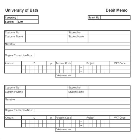 debit memo templates 14 free word excel pdf documents