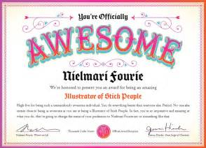Certificate Of Awesomeness Template by Be Awarded For Being Awesome Yes Design Studio