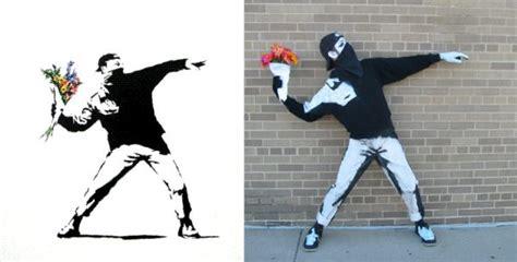 Gaun Dress White Graffiti Flower S Import Original clever costumes inspired by banksy neatorama