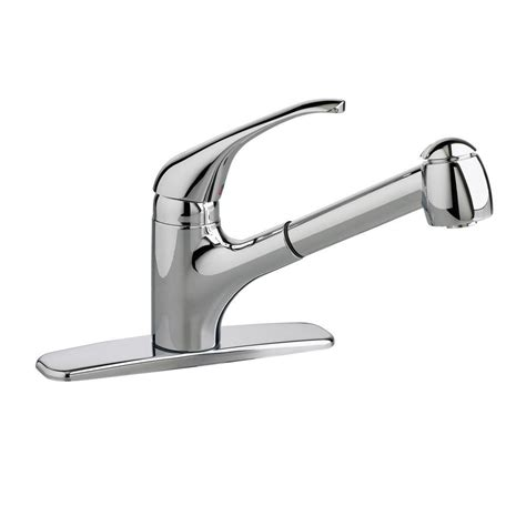 american kitchens faucet american standard colony soft single handle pull out sprayer kitchen faucet in polished chrome