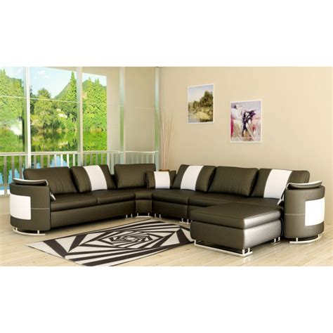 La Furniture Stores by 5001 Modern Grey Leather Sectional Sofa