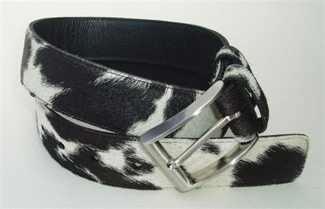 Cowhide Belt hair on cowhide for handbags belts throws cushions and rugs