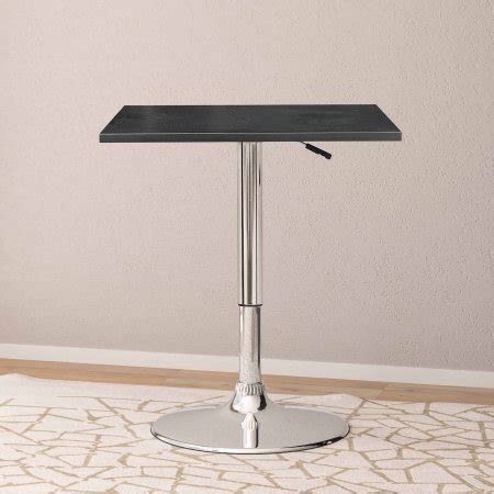 Walmart Bar Table by Corliving Adjustable Height Square Bar Table