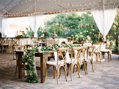 white bentwood chairs wedding rustic southern wedding at the oaks at salem by callie