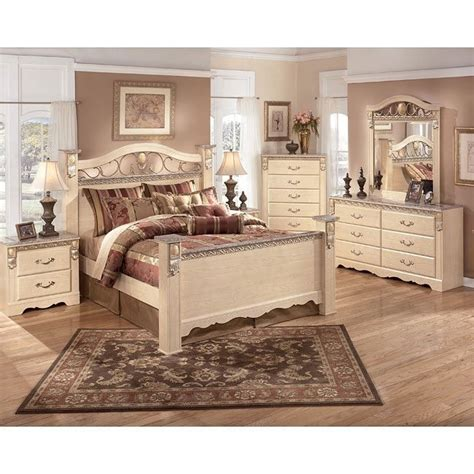 sanibel bedroom collection sanibel poster bedroom set signature design furniture cart