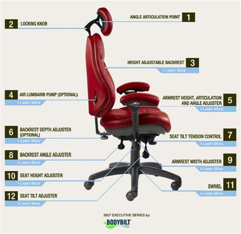 common office chair adjustments bodybilt custom ergonomic chair adjustments