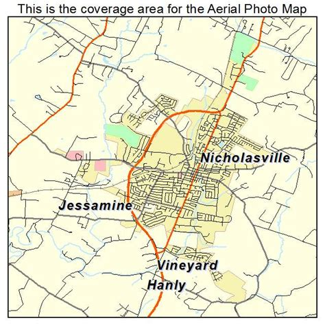 kentucky map location aerial photography map of nicholasville ky kentucky