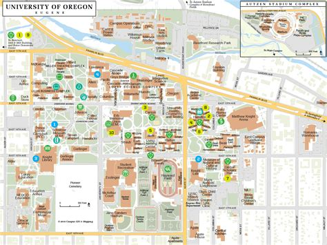 map of oregon universities uo cus map my