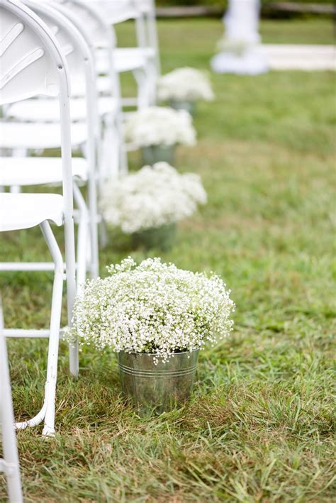 Wedding Aisle Decorations Rustic by Lovely Rustic Baby S Breath Wedding Aisle Decorations