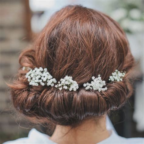 Wedding Hairstyles With Gypsophila by The Gypsophila On The Brides Hair G Y P S O