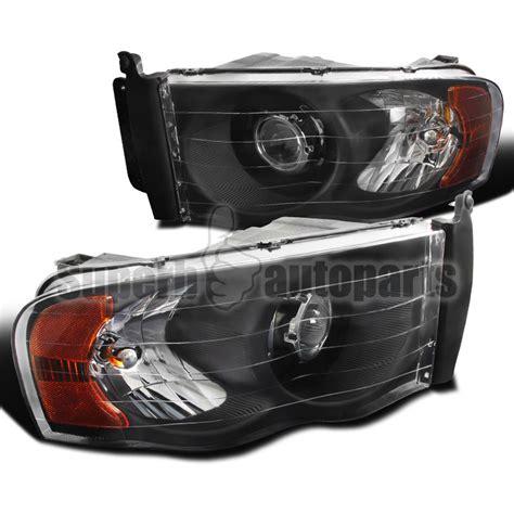 aftermarket headlights for dodge ram 1500 02 05 dodge ram 1500 2500 3500 projector headlights black