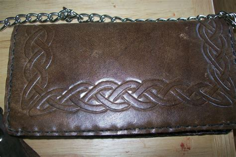 Handmade Biker Wallet - buy a made custom leather biker wallet with