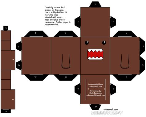 Domo Papercraft - cubeecraft minecraft and technology