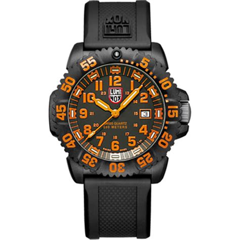 Luminox Navy Seal 3059 Black Orange luminox a 3059 navy seal colormark