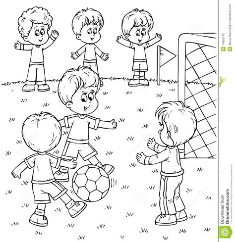 children playing outside coloring pages