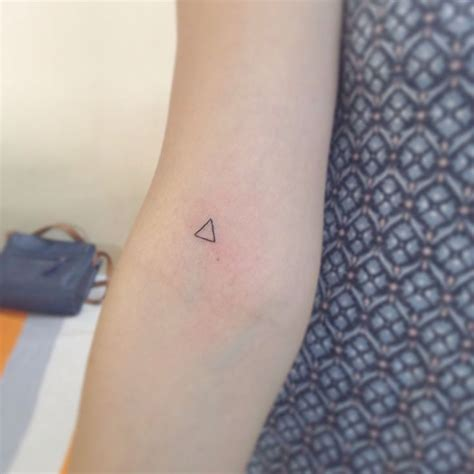 minimalist triangle tattoo meaning a small allergy test now means soo much more