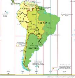 time zone map and south america file time zone map of south america 2014 png