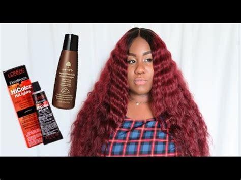 loreal hi color magenta l oreal hicolor magenta hair tutorial no bleaching