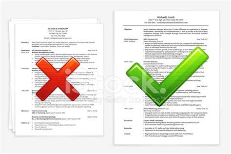 Examples Of A Bad Resume by Recherche D Emploi Avec Les Bon Et Les Mauvais Cv Photos
