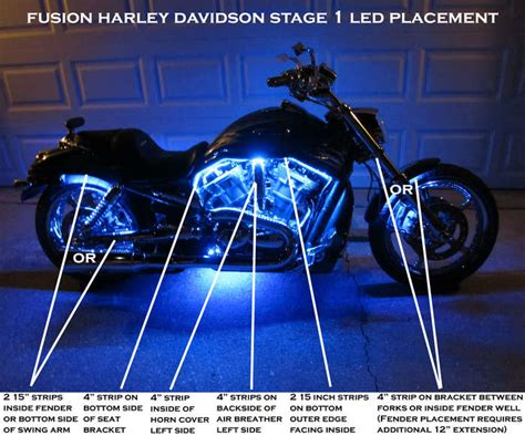 led stage lighting kit harley davidson stage 1 fusion led lighting kit