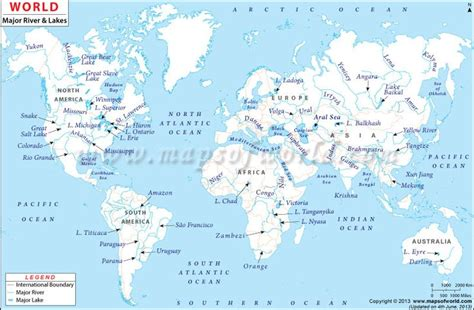 world map that shows rivers world rivers map maps