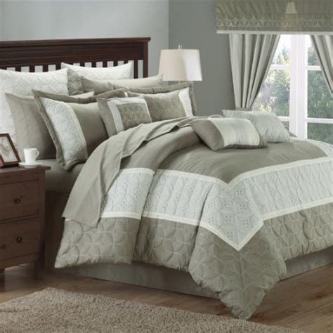 24 pc comforter set chic home aida 24 piece queen comforter set walmart com