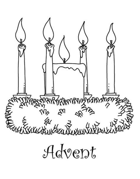 Advent Candle Coloring Page Coloring Pages Advent Coloring Page