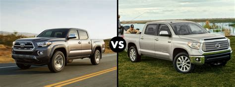 toyota tacoma vs tundra differences between the 2016 toyota tacoma and tundra