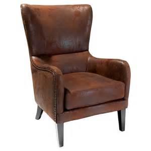 lorenzo fabric studded club chair brown chri target
