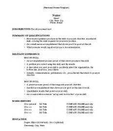 Resume Sle Template by Functional Resume Template