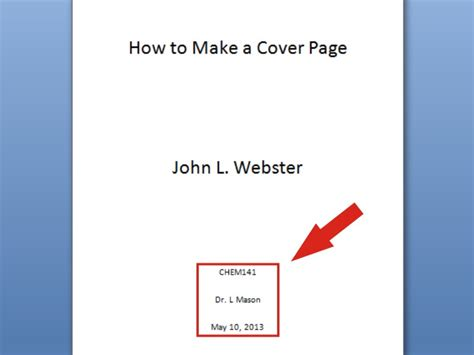 how to write a cover page for a paper 6 ways to make a cover page wikihow