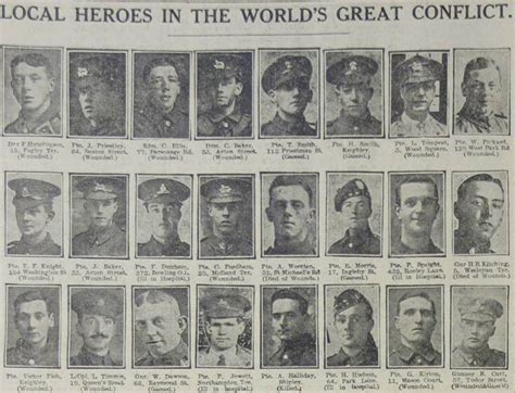 World War 1 Deaths Records Researching Ww1 Soldiers Using Local Newspaper Reports