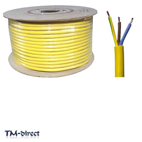 yellow electrical cable 3183y 3 2 5mm arctic yellow cable flex wire by