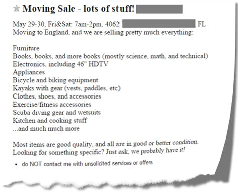 Craigslist Monterey Bay Moving Garage Sales by Sourcing Books At Yard Sales And Garage Sales