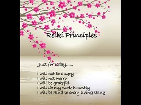 reiki principles part  hd youtube