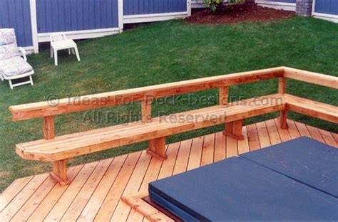 deck railing with bench seating how to build wooden deck railing bench plans plans
