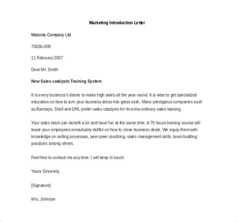 Introduction Letter For Business Promotion Marketing Letter Template 38 Free Word Excel Pdf Documents Free Premium Templates