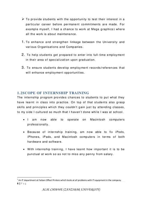 layout of a field report field attachment report alie chibwe