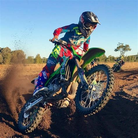 junior motocross racing kawasaki kx junior squad fires up 2017 australian junior