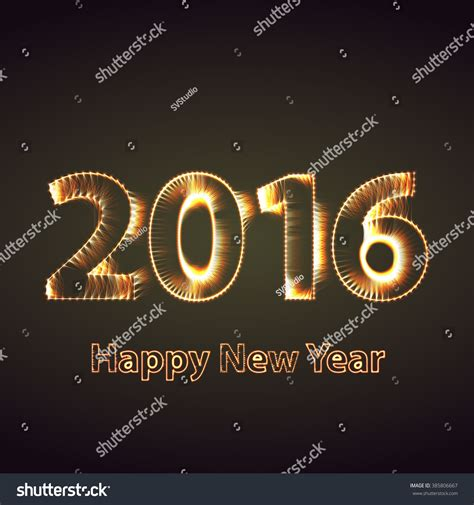 new year 2016 graphic design happy new year 2016 creative greeting stock illustration