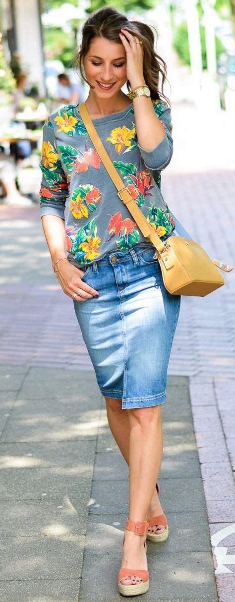 lovely denim skirts  wear  ecstasycoffee