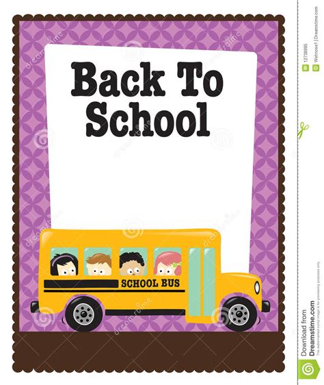 welcome back to school template 8 5x11 school flyer w bus and kids stock vector image