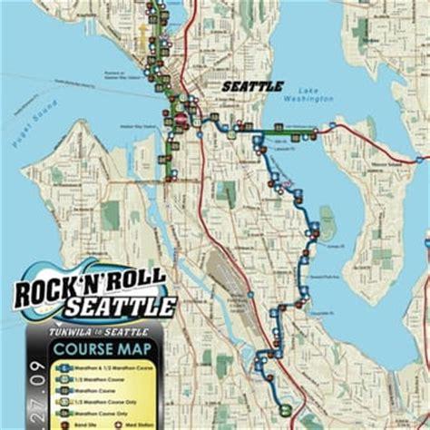 seattle marathon map rock n roll seattle marathon seattle wa united