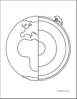 coloring pages of the earth s layers clip art geology earth core coloring page i abcteach